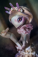 """The Frog Princess"" (Koala Krash) Tags: bjd balljointdoll doll ball joint jointed creaturesdolls creatures dolls bactro koala krash koalakrash frog princess cute tale fantasy fantastic monster cristals"