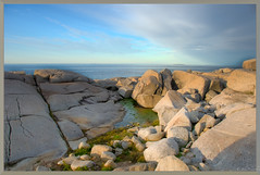 Sky, Sea and Rocks (johnscratchley) Tags: landscape hdrlandscape rocks rocksandwater skybasalt formations
