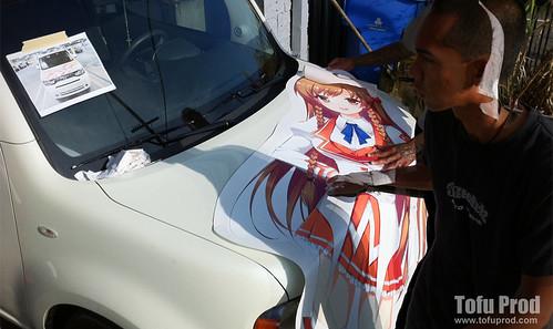 Nissan Cube Itasha Install