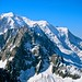 Mont Blanc and Aguille du Midi from Grands Montets