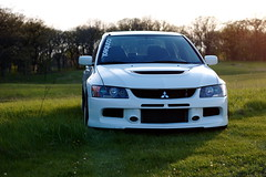 4 (@kbuss) Tags: white low clean mitsubishi evo stance ccw lm5 stanced