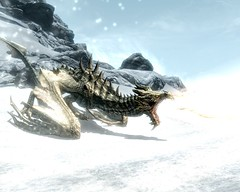 2012-04-19_00003 - Paarthurnax (tend2it) Tags: world game beautiful fire pc screenshot dragon view shot character xbox battle v rpg elder throat breathing scrolls ps3 skyrim tesv