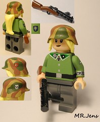 "Waffen SS Soldier ""Elsa"" with MP28 WWII LEGO (MR. Jens) Tags: world two war iron wiking cross lego painted wwii ss camo german figure ww2 mp 28 custom mp28"