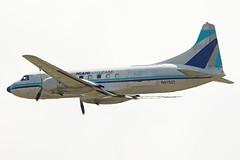 DSM-May 5,2012 (Doug Lambert) Tags: airplane airport aviation iowa airline dsm desmoines convair440 kdsm miamiairlease n41527