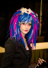 Blue & Magenta hair (Ian Aberle) Tags: blue southwest hair dallas costume texas unitedstates films magenta convention creativecommons horror movies con grapevine 2012 tfw attribution noncommercial texasfrightmareweekend ©ianaberle txfw hyattregencydfwairport upcoming:event=8497347