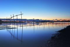 Blue dawn (y2-hiro) Tags: blue sea reflection dawn nikon le d3s