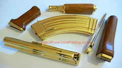 Gold Plated AK47 Parts (PureGoldPlating) Tags: goldplated goldplating goldplatedgun goldplatedak47 goldak47
