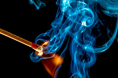Rolling Smoke (Tc Morgan) Tags: california ca blue light macro closeup canon studio spiral fire smoke awesome flames rad creative experiment commons smoking flame burn 7d inferno match roll lit pyro spark ignition ignite macrophotography studiophotography elinchrom igniting macrolife canonef100mmf28lisusm tcmorgan