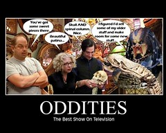 ODDITIES : The Predator Stops By Obscura (DarkJediKnight) Tags: evan mike poster ryan alien humor fake science parody oddities antiques spoof predator discovery channel motivational obscura