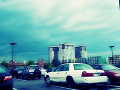blue. (Door_een) Tags: blue sky white beautiful car weather clouds mall scenery pretty skies gorgeous omg