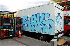 Saks / Cam (Alex Ellison) Tags: urban graffiti painted cam tag lorry van saks eastlondon