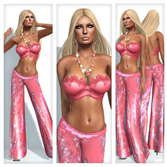 "Indyra Originals, The ""Gaia"" Collection - All Colors Included (indyra_seigo) Tags: sexy fashion vintage necklace outfit model glamour breasts pants mesh lace top femme retro clothes collection tango exotic secondlife casual accessories earrings jewlery gaia gypsy pinup lolas the beachwear slfashion indyraoriginals indyraseigo indyco gypset appliers"