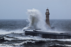 Stormy Seas (Dru Dodd) Tags: dru sea lighthouse storm tide stormy olympus andrew northsea northeast f28 e30 seas sunderland roker dodd 50200 rokerlighthouse