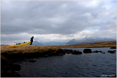 Traveling light (Nicolas Valentin) Tags: man scotland outdoor adventure loch wilderness ecosse lochba kayakfishing browntroutfishing kayakscotland browntroutkayak