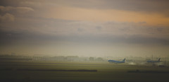 Take-off- May 2013 (Chris Copeland (gonzo1712)) Tags: holland amsterdam plane sunrise airport dusk klm