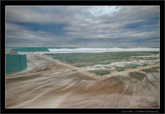 Pool Swirl (Emma White ( ... somewhere ... )) Tags: ocean sea sky seascape water pool clouds newcastle big nikon long exposure slow tide canoe explore baths nsw storms swell wading overflow d90 oceanbaths thewhiteview