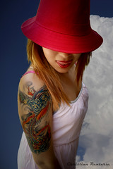 Aisha (Christian Rentera) Tags: portrait woman hot sexy girl beautiful hat tattoo mexicana canon mexico mujer retrato redhead mexican redlips toluca tatuaje tattooed peliroja tatuada canon600d canont3i christianrentera chrisrentera lordmclovin