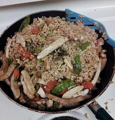 Fried Rice (yummysmellsca) Tags: school food chicken cooking vegetables lunch rice frugal soysauce cooked montessori homecooked cheap friedrice chickenfriedrice cheapfood lastweek schoolfood mlca schoolmeals schoolsnack schoolmeal montessoriajax montessorilearningcentreofajax