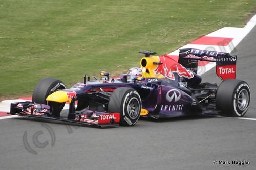 Sebastian Vettel in Qualifying for the 2013 British Grand Prix