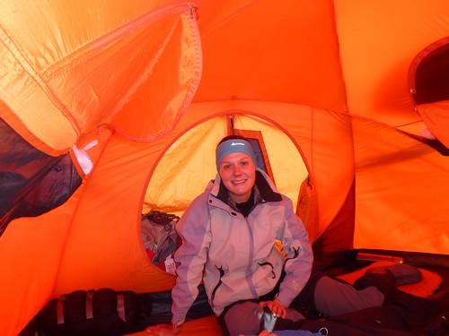 Soirée sous la tente bien confortable à 5500m