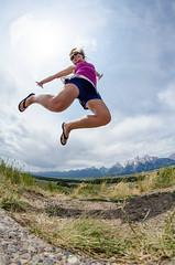 Jumping in the Grand Tetons (m01229) Tags: mountains jump melissa fisheye grandtetonnationalpark d5100