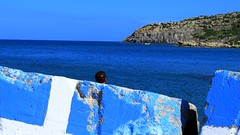 Blue seascape (Marite2007) Tags: blue sea summer seascape color water architecture landscape outdoors greek islands marine scenery mediterranean vibrant aegean scenic picture hellas vivid location greece coastal environment daytime picturesque rodos rhodes dodecanese