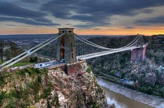 Puente Colgante De Cliffton (Antonio Fernndez Diguez) Tags: uk inglaterra travel bridge trees sunset vacation england sky holiday tree art architecture clouds bristol puente arbol photography photo europa europe foto arboles photos unitedkingdom united kingdom cielo fotos nubes fotografia pendant reino unido reinounido colgante cliffton