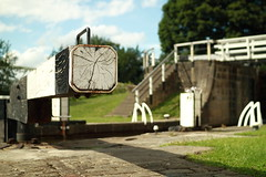 Three rise (distortoid) Tags: wood uk canon canal westyorkshire bingley lockgate sigma30mmf14 threeriselocks eos500d distortoid