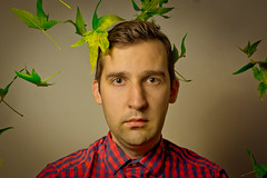 Leaves (forayinto35mm) Tags: portrait man male leaves sony flash a77 leavesfalling carlzeiss maleportrait flashlighting sonya77 sonyalpha77 manwithleaves