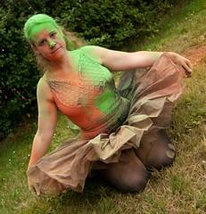 Tutu Paint (Mrsuperpants) Tags: red orange cloud color colour green paint explosion powder cannon splash blast splatter tutu throw leotard splat splattered powderpaint
