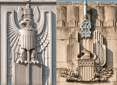 Art Deco Eagles (Viajante) Tags: detail architecture austin us texas unitedstates eagle artdeco