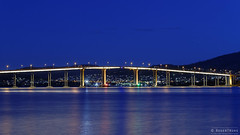 20130914-06-Tasman Bridge.jpg (Roger T Wong) Tags: reflection night nocturnal australia tasmania hobart riverderwent queensdomain tasmanbridge canonef24105mmf4lisusm canon24105 canoneos6d