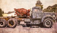 Shoot Out the Lights (Thomas Hawk) Tags: usa truck painting colorado unitedstates denverartmuseum unitedstatesofamerica denver musuem cementtruck bigrig fav10 redmixer earlschofield