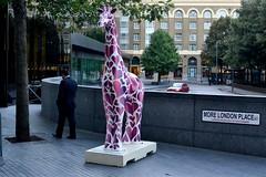 2013-09-16: Love Heart Giraffe (psyxjaw) Tags: building london towerbridge londonbridge evening office model artist dusk painted giraffe morelondon standtall londonist colcesterzoo