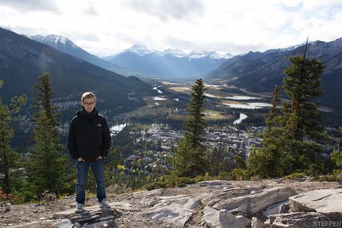 Banff Nationalpark, Hammer Ausblick und ich