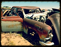 1949 Frazer uncommon car at Casa Grande DVAP (redrock flyer) Tags: rust rusty rusted oldcar wreck frazer 1949frazer dvap dvapcasagrande