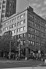 Simply Seattle (Shore Birder) Tags: seattle street blackandwhite downtown 1stavenue pinestreet canon450d simplyseattle canonxsi