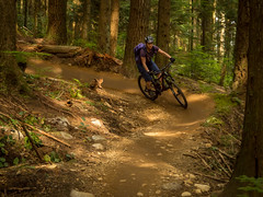 Sasha- I don't do berms! (kendyck1) Tags: bc northshore mtb northvancouver expresso mountainbiking fromme