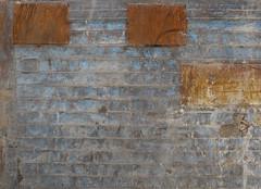 Three Browns in BlueGrey (michelle@c) Tags: texture metal painting rust decay patterns baustelle tribute foundart buildingsite chantier vexin banche colorfieldpainting michellecourteau 3brownsinbluegrey markrhotko shutteringpanel