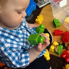 "Paul Plays with Blocks • <a style=""font-size:0.8em;"" href=""http://www.flickr.com/photos/109120354@N07/17830556952/"" target=""_blank"">View on Flickr</a>"