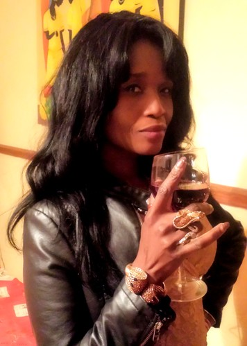 A little glass of wine for Sabine Mondestin