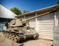 assault gun (maskirovka77) Tags: israeldefenseforces idf museum idfmuseum tanks m48 outdoors hdr armoredcar artillery antiaircraft armoredpersonnelcarrier bridgingequipment