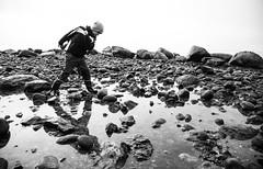 Fehmarn - Tag 5 - the other me (O.I.S.) Tags: fehmarn deutschland germany ostsee sea meer herbst autumn fall tim boy child kind sw bw steine rocks pebbles strand beach coast kste katharinenhof naturstrand