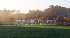 Foggy Sunrise on Amish Farm  5785 (intricate_imagery-Jack F Schultz) Tags: jackschultzphotography intricateimageryphotography amishcountry ohioamish southeasternohio fallcolor amishfarm foggy