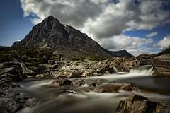 Buachaille Etive Mor (cliveg004) Tags: scotland glencoe rannockmoor rivercoupall waterfall le longexposure rocks water sky mountains challengegamewinner