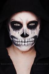 Skull (Malia Len ) Tags: skull calavera crneo mujer woman malialeon cara face makeup maquillaje halloween canon portrait