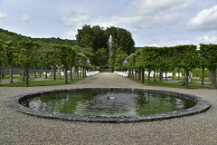 Fontaine rustique devant les platanes (Flikkersteph -4,000,000 views ,thank you!) Tags: springtime garden waterpool fountain tranquillity landscape nature footpaths reflecting wonderful hills slopes cloudy shadow trees foliage castle hastire wallonia belgium