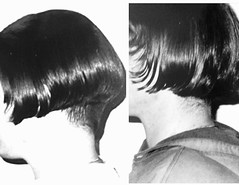 image (Shavednapes) Tags: shavednapes shavednape shaved nape angled inverted clippered cut buzzednape bob before after