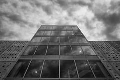 in a place not far from here (Keith Midson) Tags: canberra australia architecture sky up building stairs facade clouds