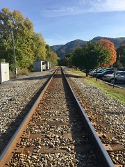 train tracks in Hot Springs, NC